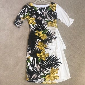 Off white side tie floral dress - offers welcome